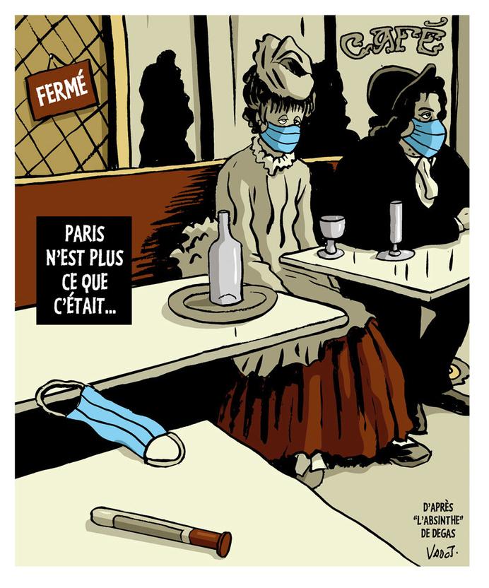 Paris ferme ses bars pour au moins deux semaines, afin d'éviter la propagation du coronavirus., Vadot