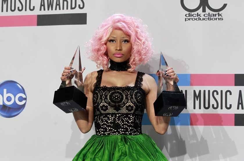 Nicki Minaj, aux American Music Awards de 2011 , REUTERS