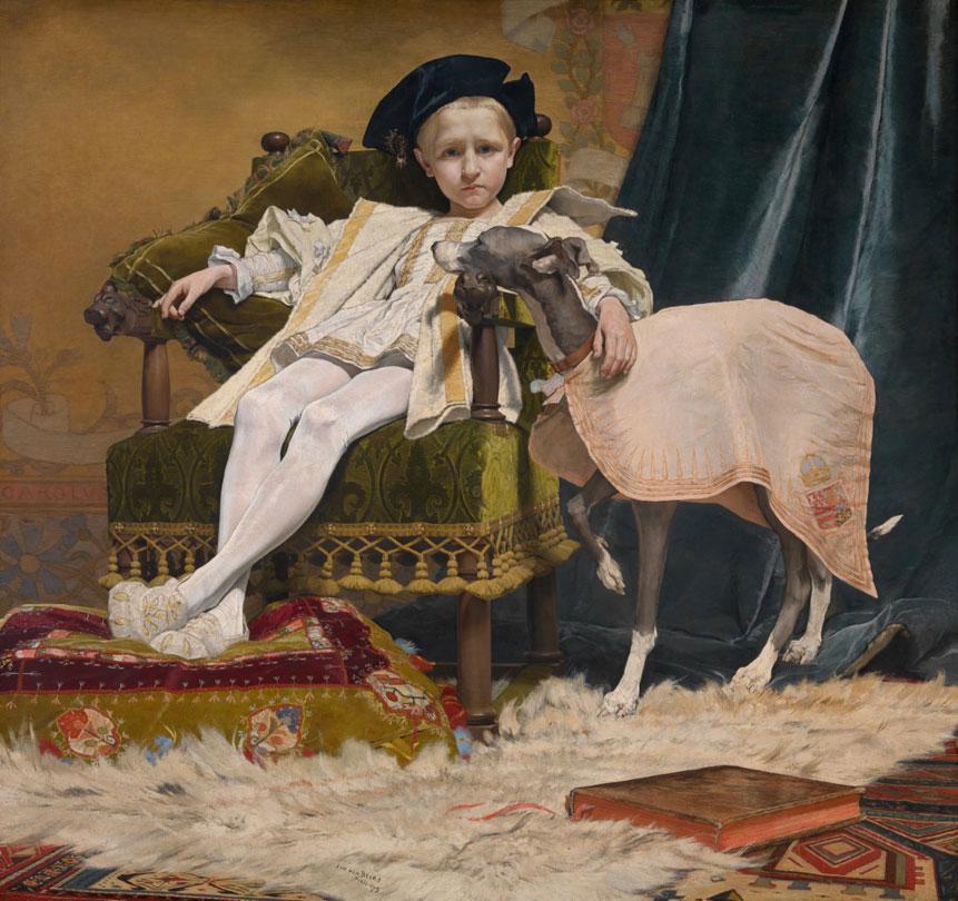 Jan van Beers, Keizer Karel als kind, 1879, olieverf op doek, Koninklijk Museum voor Schone Kunsten Antwerpen, Koninklijk Museum voor Schone Kunsten Antwerpen/Hugo Maertens