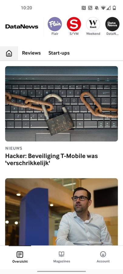 Het live-nieuws van Data News vindt u voortaan ook in de Mijn Magazines app terug., DN