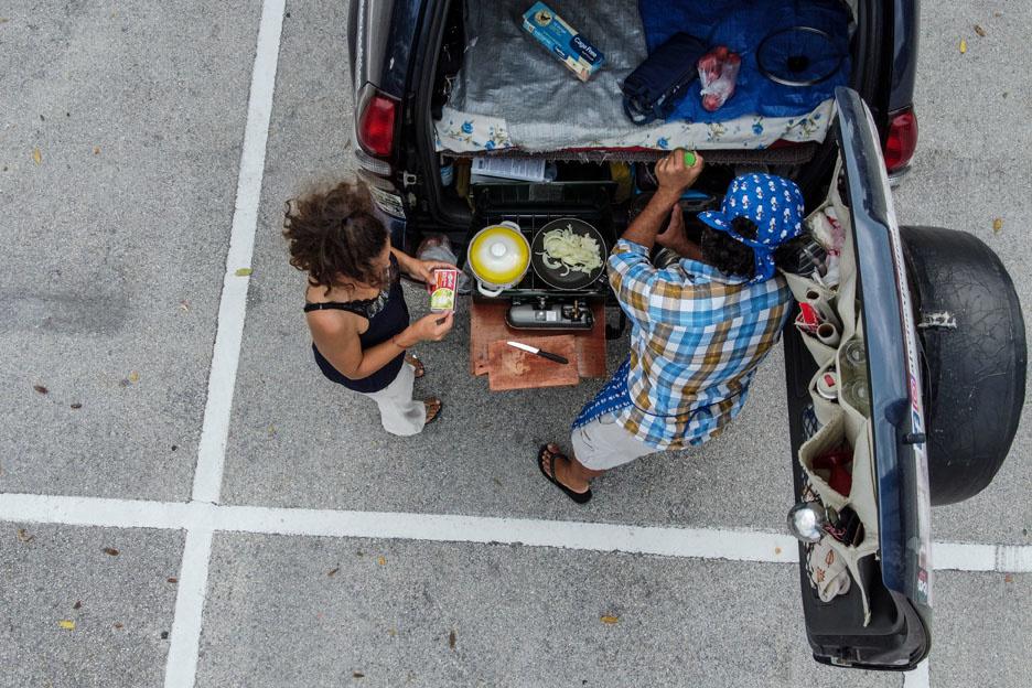 Aldo Giaquinto et Vera Kozlovskaia, globe trotteurs coincés en Floride, AFP