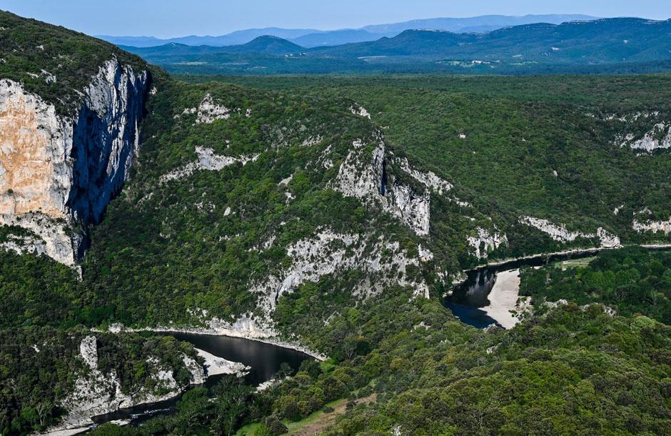 Les gorges de l'Ardèche, après deux mois de confinement humain, AFP