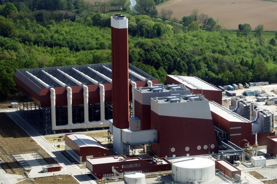 De energiecentrale in het Italiaanse Turano Lodigiano., SPG