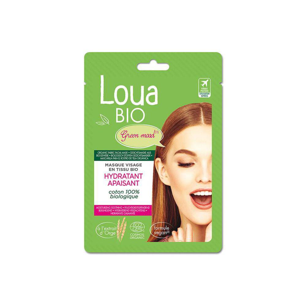Masque hydratant apaisant Loua Bio, 4,99 euros la pièce (disponible chez Di)., SDP
