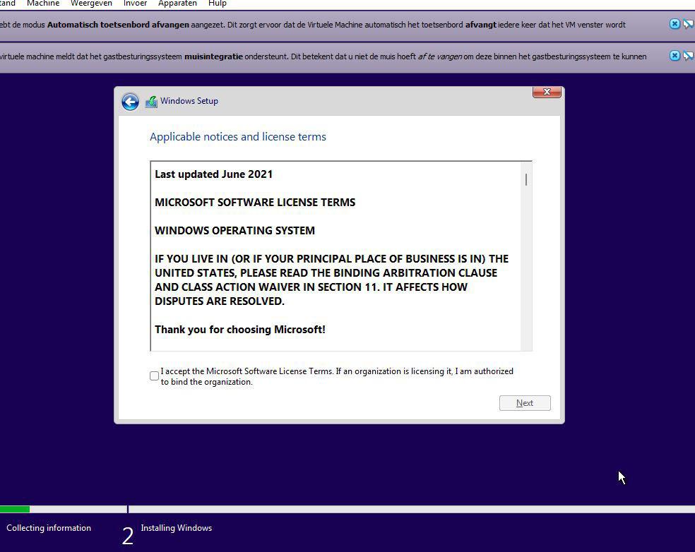 Zodra je dit scherm krijgt, zou de installatie moeten lukken., PVL
